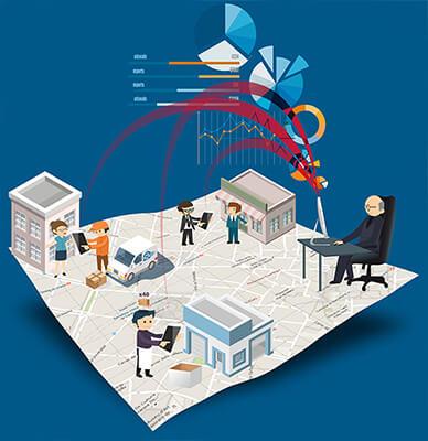App control de red comercial