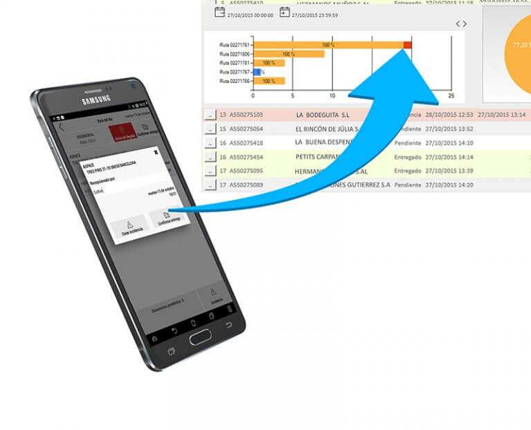 Aplicación móvil de logística