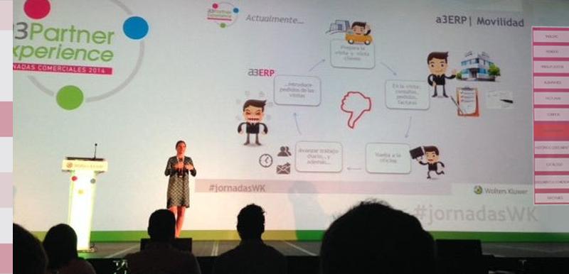 Presentación de a3ERP Movilidad desarrollado por FarAndSoft en a3Partner Experience jornadas comerciales