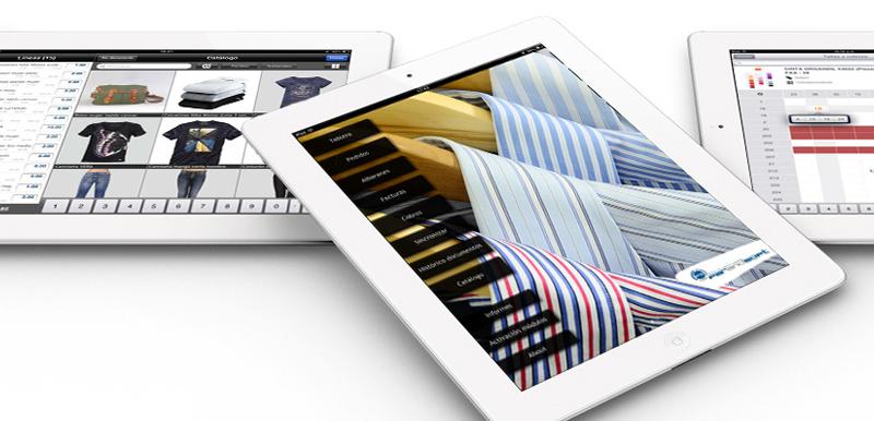 Tablets con aplicación para el sector téxtil.