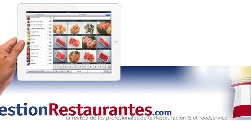 Tablet con catálogo digital en artículo revista Gestión Restaurantes Foodservice