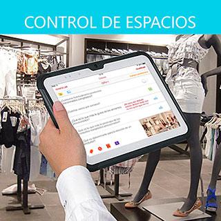 App control de espacios