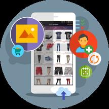 Aplicación móvil catálogo productos