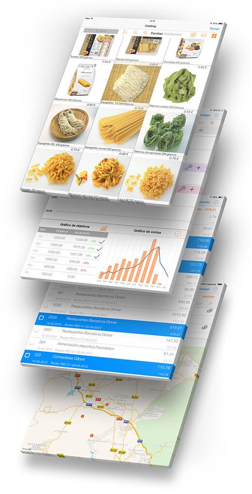 Software app CRM gestión ventas