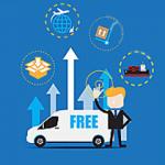Repartidor con furgoneta simulando el uso de una app