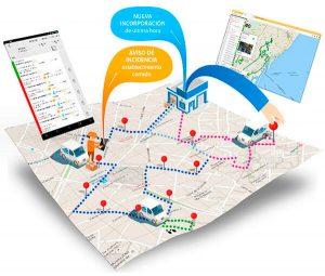 Aplicación empresarial de planificación logística y control de flotas